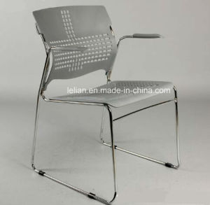Good Quality Plastic Writing Training Dining Chair (LL-1801) pictures & photos