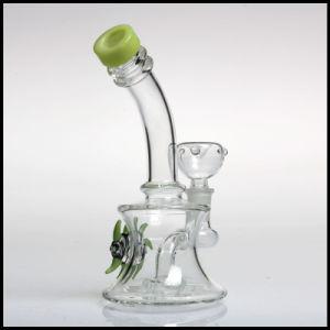 Hfy Glass Green Eye Bubbler Tobacco Percolator Hookah Smoking Pipes Tobacco Cheap Waterpipes Showerhead Perc pictures & photos