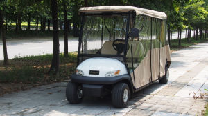 New Energy Lithium Battery Golf Cart 6 Seaters with Rain Hood pictures & photos