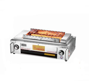 Stainless Steel Automatic Rolling Gas BBQ Grill pictures & photos