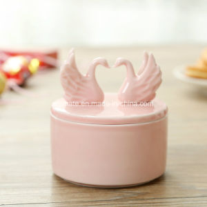 Swan Shaped Decorative Wedding Gift Ceramic Jewelry Box (CC-16) pictures & photos