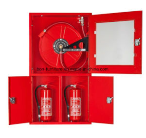 Metal Red Fire Hose/Fire Extinguisher Cabinets/White-Background-Opened-Closed pictures & photos