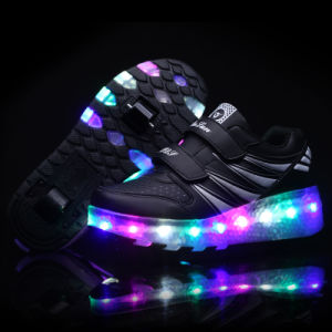 Wholesale, Cheap Price, Kids 2 Wheels Shoe, 2 Wheels Flashing Roller Shoe, Sport Roller Skate Shoe pictures & photos