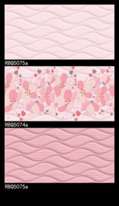 Pink Glazed Ceramic Inkjet Wall Tile Rbq5074A pictures & photos