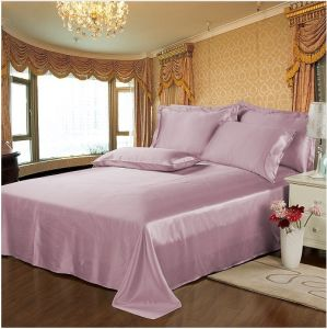 High Quality Plain Printed Bed Sheet Set pictures & photos