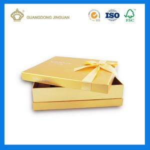Luxury Paper Gift Box with Ribbon Butterfly Knot (with logo hot foil) pictures & photos