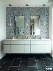 Fashion Design Painting Vanity Cabinet Knock Down or Assemble Packing pictures & photos