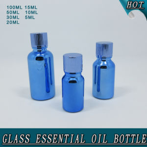 High Quality Electroplated Blue Glass Essential Attar Oil Bottle pictures & photos