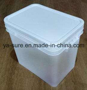 2016 New Type PP Food Grade Rectangular Plastic Bucket 25L for Food Packaging