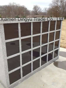 48 Niches Chinese Polished Grey Granite Columbarium with Black Door pictures & photos
