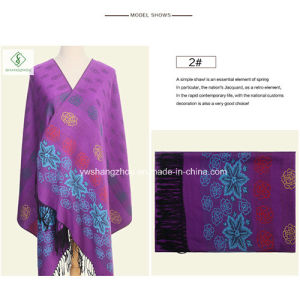 Hot Sale National Style Jacquard Shawl Fashion Lady Scarf Wholesale pictures & photos