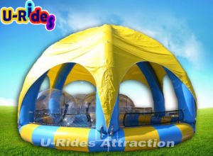 Round Inflatable Pool with Tent Cover pictures & photos