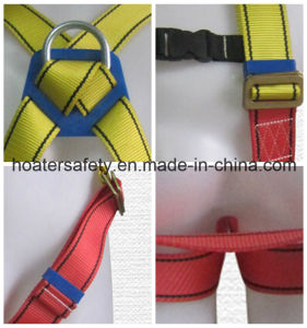 2017 Fall Protection 5-Point Full Body Safety Harness with Lanyard pictures & photos