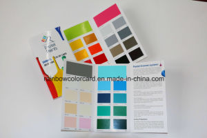 High Quality Customized Folded Printing Paint Color Card pictures & photos