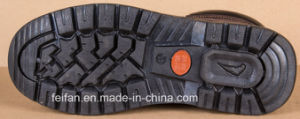 Genuine Leather Safety Shoe with PU Outsole pictures & photos