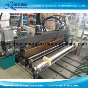Double Channel HDPE T Shirt Bag Making Machine Heat Seal&Heat Cut One Line 230 PCS Speed pictures & photos