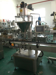 Auto Powder Filling Capping Labeling Machine for Soybean Milk Spice Powder pictures & photos