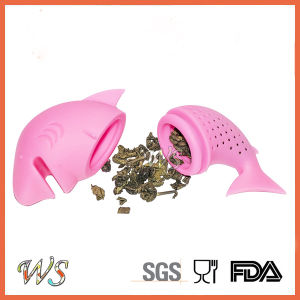 Ws-If056s Food Grade Silicone Dophin Tea Infuser Set Leaf Strainer for Mug Cup, Tea Pot pictures & photos