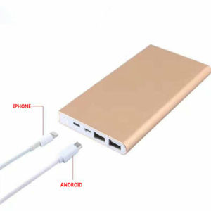 8000mAh New Book Shape Power Bank with iPhone Port Power Charger pictures & photos