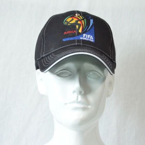 Fashion Black Embroidery Cotton Twill Baseball Cap pictures & photos
