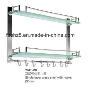 Hot Selling Bathroom Accessory Stainless Steel Glass Shelf (YMT-28) pictures & photos