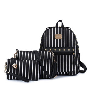 PU Backpacks Women Fashion PU Leather Backpack Set 3 PCS pictures & photos