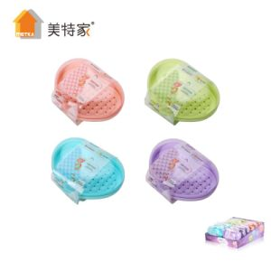 6064 Metka Household Heart-Shaped Plastic Soap Box Soap Dish for Bathroom pictures & photos