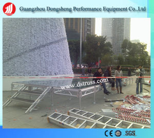 Movable Tempered Glass Aluminum Performance Stage pictures & photos