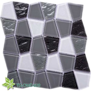 Strip Line Crystal Glass Mosaic Wall Tiles (TG-OWD-629) pictures & photos