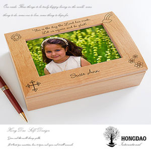 Hongdao Custom Wooden Photo Box with Photo on Lid Wholesale_C pictures & photos
