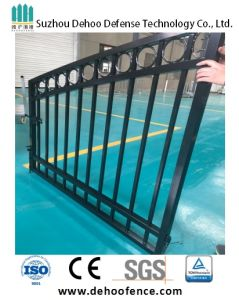 Gloss Black Decorative Galvanized Steel Ornamental Gate pictures & photos