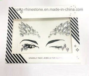 Tattoo Sticker Performing Arts Eye Face Rhinestone Stickers Eye Makeup Acrylic Diamonds Sticker (S054) pictures & photos
