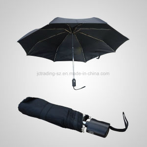3 Fold Flat Automatic Open&Close Rain/Sun Umbrella (JF-AOC301) pictures & photos