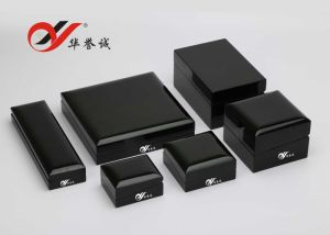 Black Steel Paint Wooden Jewelry Box Set pictures & photos