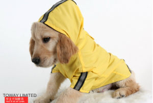 Reflective Mesh Inner Waterproof Dog Raincoat Pet Hoodie Coat pictures & photos