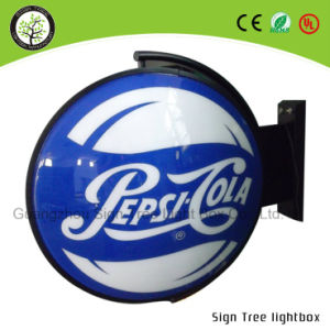 Outdoor Round Acrylic Advertising Rotating Beer Light Box pictures & photos