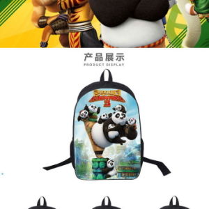 New Students Kung Fu Panda Backpack School Bag Students Customized Wholesale pictures & photos