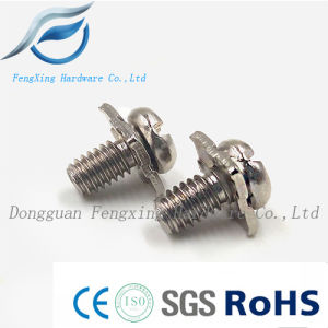 Stainless Steel Pan Head Sem Screw with Square Washer pictures & photos
