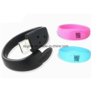 Custom USB Flash Drive Silicone USB Bracelet/Wristband USB pictures & photos