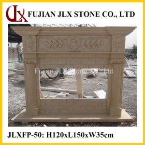 Wholesale Beige Marble Stone Indoor Fireplace Mantel pictures & photos
