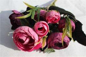Wholesale Cheap Silk Artificial Camellia Flowers pictures & photos