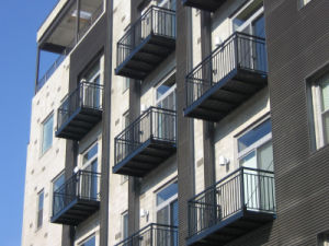 Modern Simple Free Maintenance Powder Coated Balcony Fence with Security pictures & photos