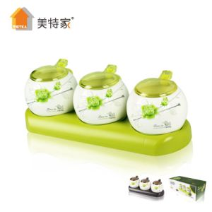 Metka Household Kitchen Porcelain Seasoning Container 3 Pot pictures & photos