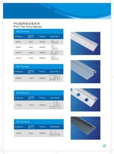UPVC Tile Trims PVC Trim Trimmings Profile pictures & photos