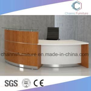 Cashier Desk High Quality Office Furniture Melamine Reception Desk pictures & photos
