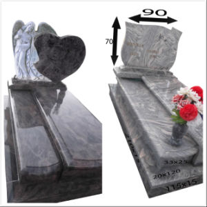 Cheap Hearts with Flowers European Double Tombstone pictures & photos