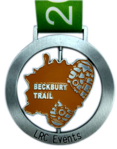 Spinning Medal for Beckbury Trail Lrc Events with Soft Enamel