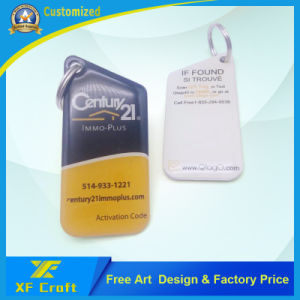 Professional Production Metal Key Tag with Double Side Cmyk Printing (XF-KC16) pictures & photos