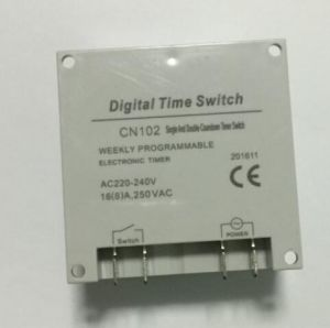 220V LCD Digital Power Programmable Cycle Timer Countdown Seconds Timer Relay Switch Cn102A pictures & photos