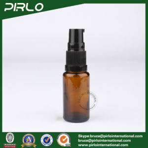 15ml Amber Tube Shape Glass Spray Bottles with Black Lotion Sprayer pictures & photos